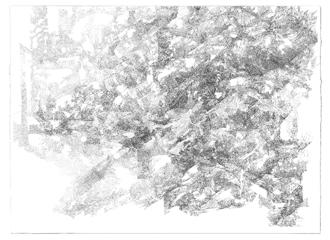 Zeichnung_96, 2010, Fineliner auf Büttenpapier, 107x78cm, 96dpi,
